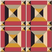 Ceramic tile pattern of geometry square check cross kaleidoscope Stock Illustration