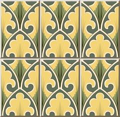 Ceramic tile pattern of curve cross garden leaf Stock Illustration