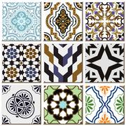 Ceramic tile pattern combo collection Stock Illustration