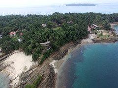 Contadora Island pan Stock Footage