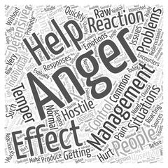Effective Anger Management Help word cloud concept Stock Illustration