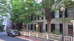 Smith Court residences on the Black Heritage Trail, Boston, MA, United States. Stock Footage