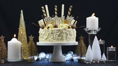 2017 Happy New Year showstopper cake Stock Footage
