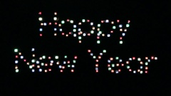 """Inscription """"Happy New Year"""" the glaring squares Stock Footage"""