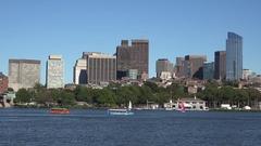 The daytime skyline of Boston, Massachusetts, United States. Stock Footage