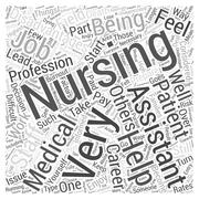 Disadvantages of Being a Nursing Assistant word cloud concept Stock Illustration
