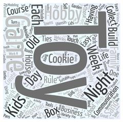 Toy game hobby word cloud concept Stock Illustration