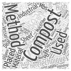 The Big Deal on Industrial Composting Techniques word cloud concept Stock Illustration