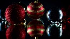 4K Christmas Abstract Background of Toys and Decorations Stock Footage