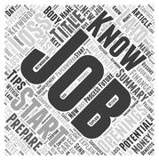 How to Prepare for a Potential Job Loss word cloud concept Stock Illustration
