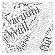 Roomba Vacuum Cleaner word cloud concept Stock Illustration
