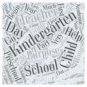 The Purpose of Kindergarten word cloud concept Stock Illustration