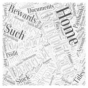 Organize Your Home Business and Reap the Rewards of Success word cloud concept Stock Illustration