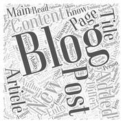 Making Blogging A Habit word cloud concept Stock Illustration