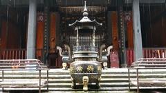 China Taoist Temple entrance Stock Footage