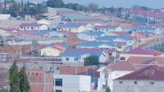 Skyline of Luanda, capital of Angola Stock Footage