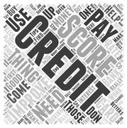 Improve Your Credit Score word cloud concept Stock Illustration
