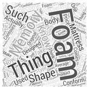 Things Youd Like to Know about Memory Foam Mattress word cloud concept Stock Illustration