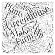 Greenhouse structure word cloud concept Stock Illustration