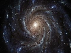 Spiral Galaxy - accurate rotation Stock Footage