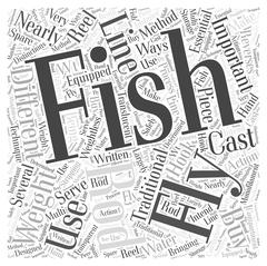Which Fly Fishing Rod Should You Buy word cloud concept Stock Illustration