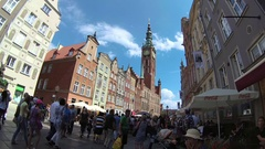 Gdansk, Poland. The main city - old town. Stock Footage