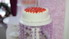 Cake in slow motion Stock Footage
