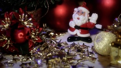 Dancing Toy Santa Claus 1 Stock Footage