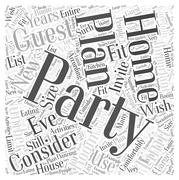 Planning A New Years Eve Party In Your Home word cloud concept Stock Illustration