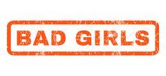 Bad Girls Rubber Stamp Stock Illustration