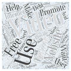 Using Online Video Websites to Promote Your Business word cloud concept Stock Illustration