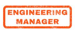 Engineering Manager Rubber Stamp Stock Illustration