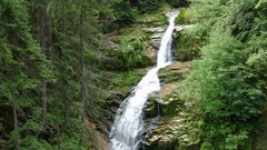 Kamienczyk Waterfall. Karkonosze National Park - UNESCO biosphere reserve Stock Footage