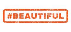 Hashtag Beautiful Rubber Stamp Stock Illustration