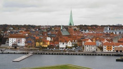 Cityscape of Helsingor, Denmark Stock Footage