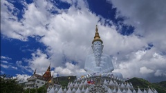 Time-lapse of Five Buddhas at Wat Phra Thad Pha Son Kaew Temple, Thailand Stock Footage