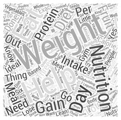 Nutrition Diets and Bodybuilding Can Help You Gain Weight word cloud concept Stock Illustration