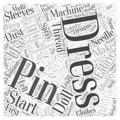 How to Craft Doll Dresses word cloud concept Stock Illustration