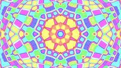 Light Pastel Complex Psychedelic Kaleidoscope VJ Motion Background Loop 1 Stock Footage