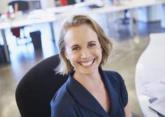 Portrait smiling businesswoman Stock Photos