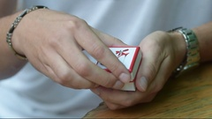 Man giving an engagement box with ring Stock Footage