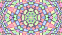 Light Pastel Complex Psychedelic Kaleidoscope VJ Motion Background Loop 2 Stock Footage