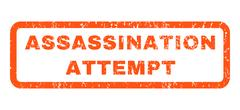 Assassination Attempt Rubber Stamp Stock Illustration