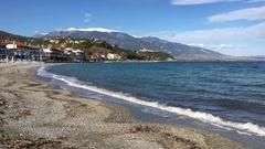 The beach in Platamona Stock Footage
