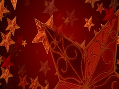 Red christmas stars background Arkistovideo