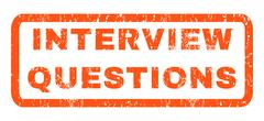Interview Questions Rubber Stamp Piirros