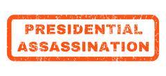 Presidential Assassination Rubber Stamp Stock Illustration