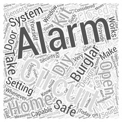 Diy burglar alarm kit word cloud concept Stock Illustration
