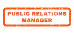 Public Relations Manager Rubber Stamp Stock Illustration
