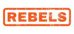 Rebels Rubber Stamp Stock Illustration